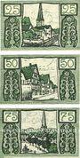 Banknotes Holzminden. Stadt. Billets. 25 pf, 50 pf, 75 pf (1921)