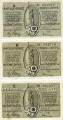 Banknotes Horn. Amtsgemeinde. Billets. 50 pf (3ex) juin 1921. Impression matte