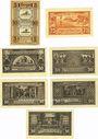 Banknotes Hoym. Stadt. Billets. 5 + 5 pf (1921), 25 pf 17.5.1921, 50 pf (5ex) 17.5.1921
