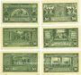 Banknotes Hoym. Stadt. Série de 6 billets. 50 pfennig (6ex) 17.5.1921
