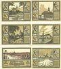 Banknotes Huma. Stadt. Série de 6 billets. 50 pf (6ex) 1.11.1921