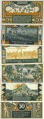 Banknotes Husbyholtz. Gemeinde. Série de 6 billets. 50 pf (6ex) 1.7.1921