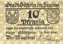 Banknotes Idstein. Stadt. Billet. 10 pf (1920)
