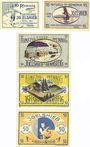 Banknotes Igelshieb. Gemeinde. Série de 5 billets. 10 pf, 25 pf, 50 pf (3ex) 1.4.1921