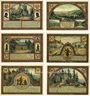 Banknotes Ilmenau. Stadt. Série de 6 billets. 50 pfennig (6ex) 1921, impression brillante