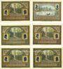 Banknotes Ilmenau. Stadt. Série de 6 billets. 50 pfennig (6ex) 1921, impression matte