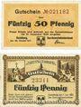 Banknotes Ilsenburg. Gemeinde. Billets. 50 pf 29.10.1917, 50 pf 1.6.1920