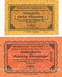Banknotes Immenstadt i. Allgäu. Stadt. Billets. 10 pf, 50 pf 1.2.1917