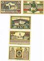 Banknotes Insterburg (Tschernjachowsk, Russie). Städtische Sparkasse Billets 30, 70 pf, 1,50, 2,50, 3 mk (1922