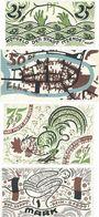 Banknotes Itzehoe. Stadt. Série de 4 billets. 25 pf, 50 pf, 75 pf, 1 mark n. d. - 30.9.1921