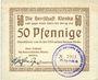 Banknotes Jarotschin (Jarocin, Pologne). Kreis. Herrschaft Klenka. Billet. 50 pf n.d. - 30.6.1919