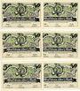 Banknotes Jena. Spielvereinigung Jena 08. Série de 6 billets. 50 pf (6ex) 1921, sans numérotation