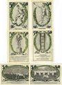 Banknotes Jena. Spielvereinigung Jena 08. Série de 6 billets. 50 pf (6ex) 1921