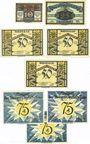 Banknotes Jena. Stadt. Série de 8 billets. 10 pf, 25 pf, 50 pf (3ex), 75 pf (3ex) 1.5.1921