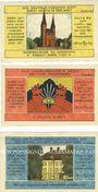 Banknotes Jerichow. Kreis. Série de 3 billets. 25 pf, 50 pf, 1 mark 1.7.1921 - 1.4.1922