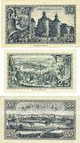Banknotes Jülich. Stadt. Billets. 50 pf 1.11.1918 (réimpression 1921), 25 pf, 50 pf 31.12.1919