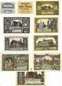 Banknotes Jütebog. Stadt. Billets. 10 pf 1920, 10 pf, 25 pf, 50 pf (1921) 25, 50, 60, 70, 80, 90 pf (fin 1921)