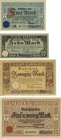 Banknotes Koblenz. Stadt. Billets. 5 mark, 10 mark, 20 mark, 25 mark 15.11.1918