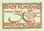 Banknotes Konstanz. Stadt. Billet. 50 pf décembre 1918