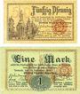 Banknotes Allemagne, Lippe, Fürstlich Lippische Regierung, Detmold, billets, 50 pfennig, 1 marr 13.11.1918