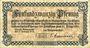Banknotes Allemagne, Mayen und Andernach, Städte. Billet, 25 pfennig 1.1.1919