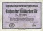 Banknotes Allemagne, Wurtemberg, Finanzminister Stuttgart, 100 millions de mark 31.10.1923