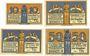 Banknotes Halberstadt. Stadt. Billets. 10 pf, 25 pf 2.11.1920, 25 pf, 50 pf 27.4.1921