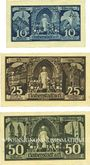 Banknotes Halberstadt. Stadt. Billets. 10 pf, 25 pf, 50 pf 27.4.1921
