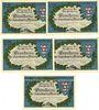 Banknotes Kahla. Leuchtenburg-Wirtschaft. Billets. 75 pf (5ex) 15.6.1921, 2e série : Châteaux de Thuringe