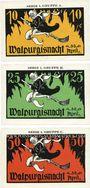 Banknotes Kahla. Leuchtenburg-Wirtschaft. Série de 3 billets. 10 pf, 25 pf, 75 pf n. d. (30 avril)