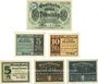 Banknotes Kahla. Stadt. Billets. 50 pf 1917, 5, 10 pf 1920, 10, 50 pf 1920