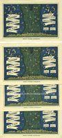 Banknotes Kahla. Stadt. Billets. 75 pf (4ex) 1.12.1921, série politique