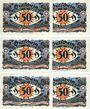 Banknotes Kahla. Stadt. Série de 6 billets. 50 pf (6ex) 20.11.1921, sans numérotation, série de Noël