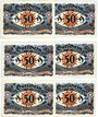 Banknotes Kahla. Stadt. Série de 6 billets. 50 pf (6ex) 20.11.1921 série de Noël