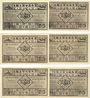 Banknotes Kahla. Thüringer Schachbund. Série de 6 billets. 75 pf n.d. - 1.11.1921
