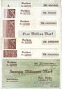 Banknotes Kaiserslautern. Gebr. Pfeiffer Barbarossawerke A.-G. Billets. 200000, 500000, 1, 2, 5, 20 millions