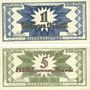 Banknotes Kaiserslautern. Stadt. Billets. 1 billion, 5 billions mark 10.10.1923