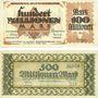 Banknotes Kaiserslautern. Stadt. Billets. 100 millions mark, 500 millions mark 20.9.1923