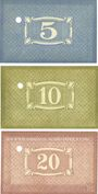 Banknotes Kaiserslautern. Stadt. Billets. 5, 10, 20 mark 10.10.1918, annulation par perforation