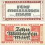 Banknotes Kaiserslautern. Stadt. Billets. 5 milliards, 10 milliards mark 10.10.1923