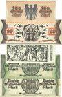 Banknotes Kaiserslautern. Stadt. Billets. 500 000, 10, 20, 50 (2ex) millions mark 10.9.1923
