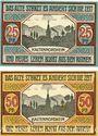Banknotes Kaltennordheim. Gemeinde. Billets. 25 pf, 50 pf 20.11.1920