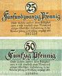 Banknotes Kamen. Stadt. Billets. 25 pf, 50 pf 1.4.1920