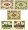 Banknotes Kamenz. Bezirksverband der Amtshauptmannchaft. Billets. 10, 50 pf 1917, 10 pf nd, 10, 50 pf 1.1.1921