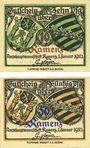 Banknotes Kamenz. Bezirksverband der Amtshauptmannchaft. Billets. 10 pf, 50 pf 1.1.1921