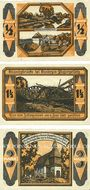 Banknotes Kandrzin-Pogorzelletz (Kedzierzyn, Pologne), Gemeinde. 3 billets. 1/2, 1 1/2, 3 mark 6.6.1921