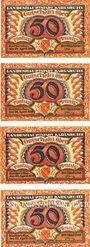 Banknotes Karlsruhe. Stadt. Billets. 50 pf (4ex) 22.4.1920