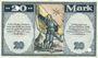 Banknotes Kaufbeuren. Stadt. Billet. 20 mark 15.10.1918. Annulation par perforation