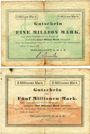 Banknotes Kehl. Trickzellstoff G.m.b.H. Billets. 1 million mark 10.8.1923, 5 millions mark 24.8.1923