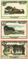 Banknotes Keitum / Stylt. Gemeinde. Série de 3 billets. 50 pf, 1 mark, 2 mark 1.9.1921